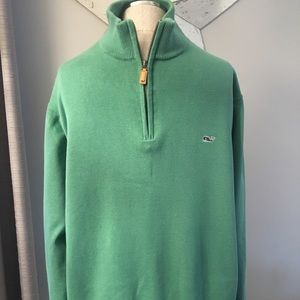 Vineyard Vines 1/4 Zip Cotton Sweater